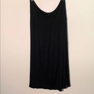 Lane Bryant black strapless sun dress 14/16